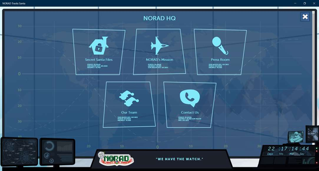Learn About NORAD And Santa With Santa App On Windows 10