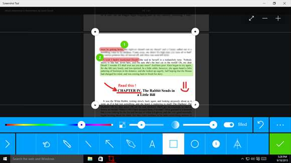 Edit & Annotate Windows 10 Screenshots With App