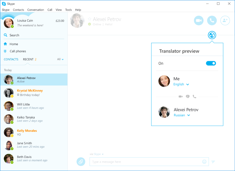Now Communicate In Russian Using Skype Translator On Windows 10