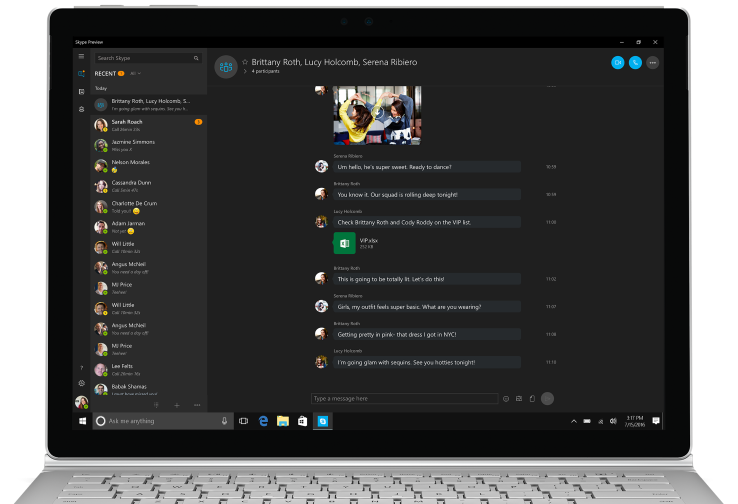 Skype Gets Dark Theme With Windows 10 Anniversary Update
