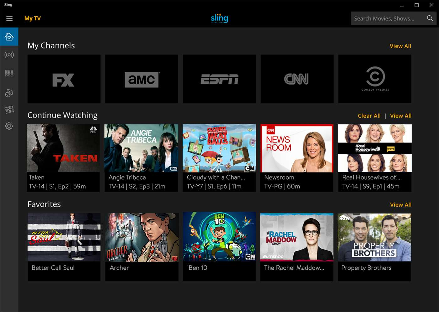 Sling TV App Adds Cloud DVR Features On Windows 10