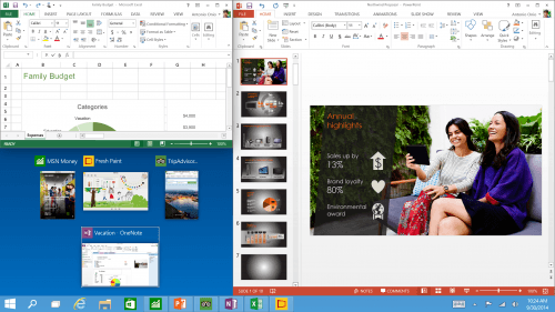 Microsoft's Windows 10 Shows Off Snap App Improvements