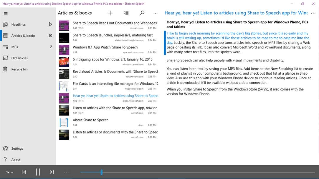 Text To Speech Arrives WIth Speech Central Lite Via Windows 10