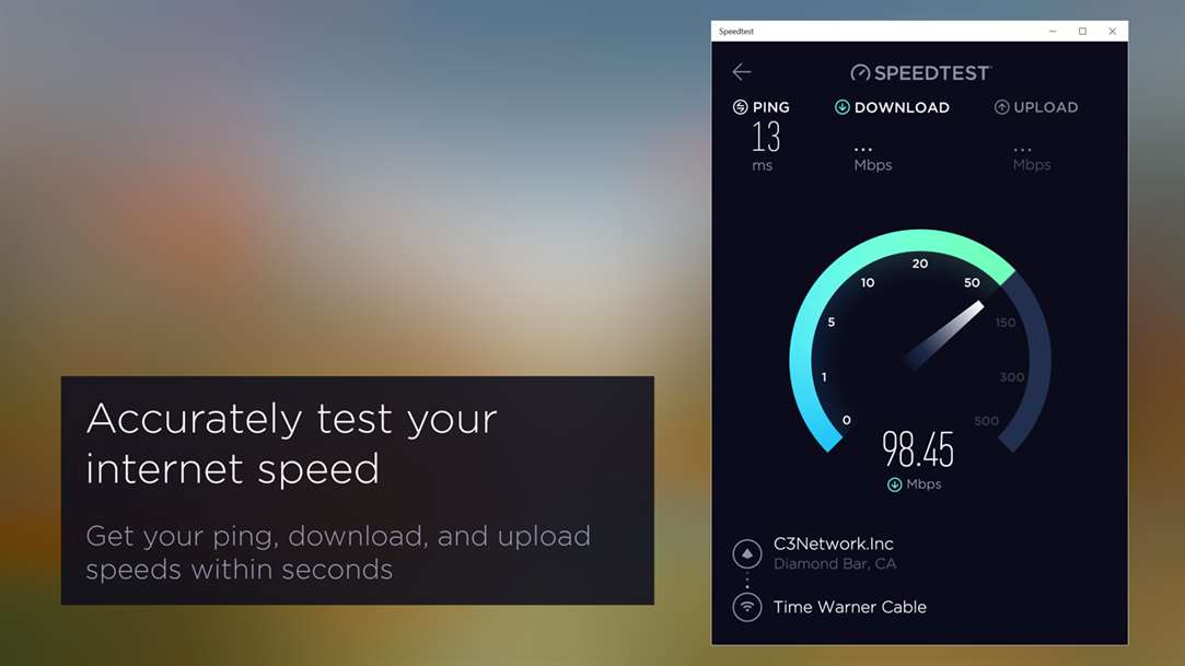 Get Ping, Download and Upload Speeds With Speedtest App