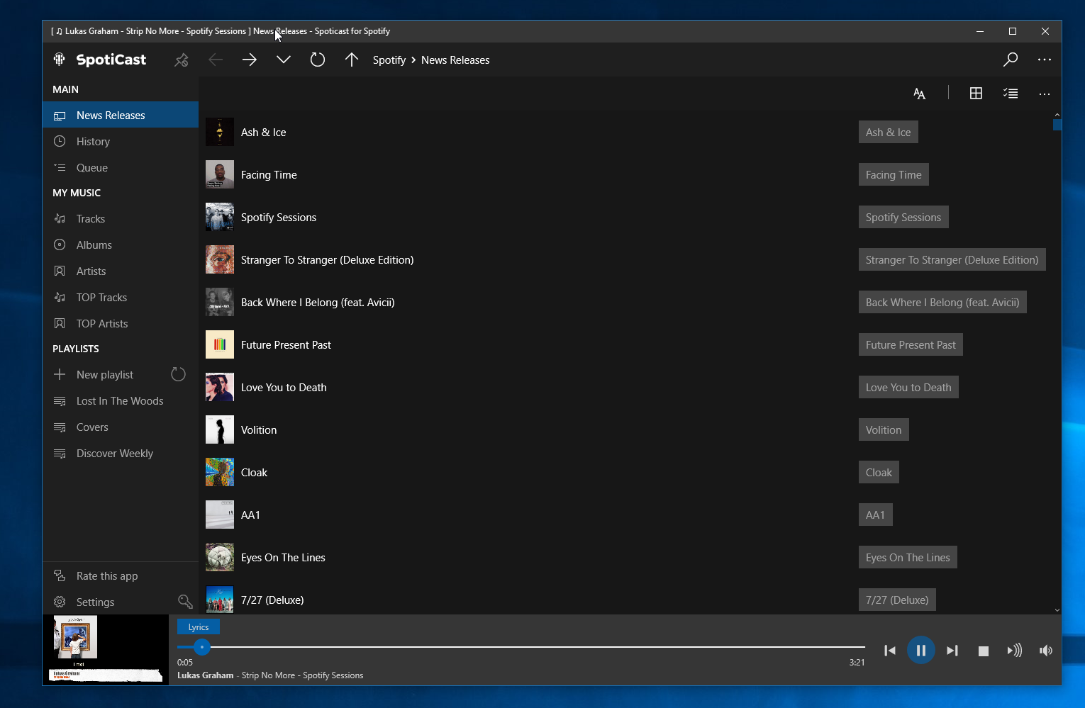 Spoticast Brings Third Party Spotify Fun To Windows 10 Users