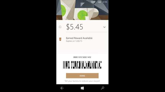 Starbucks Launches Windows 10 Mobile App
