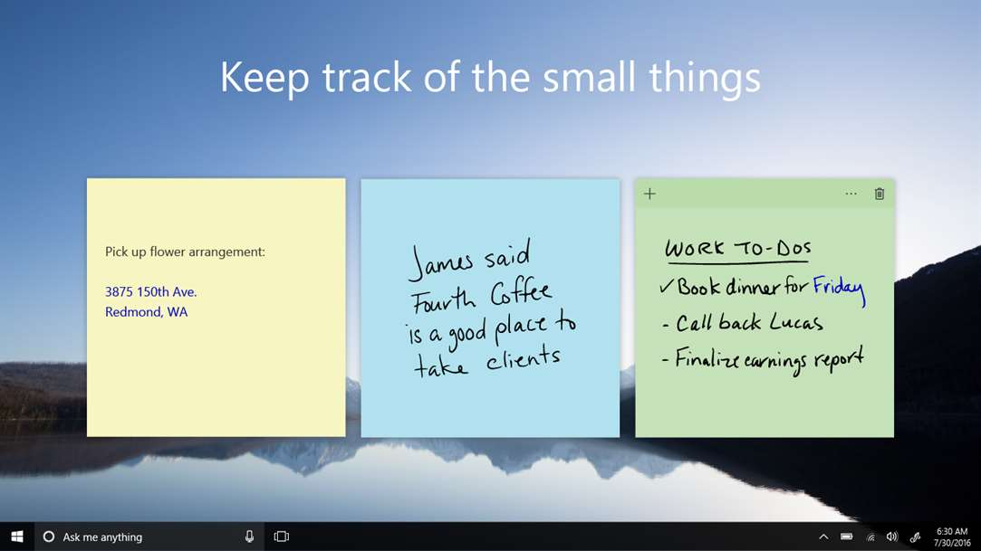 Sticky Notes Come To Life WIth Sticky Notes From Microsoft