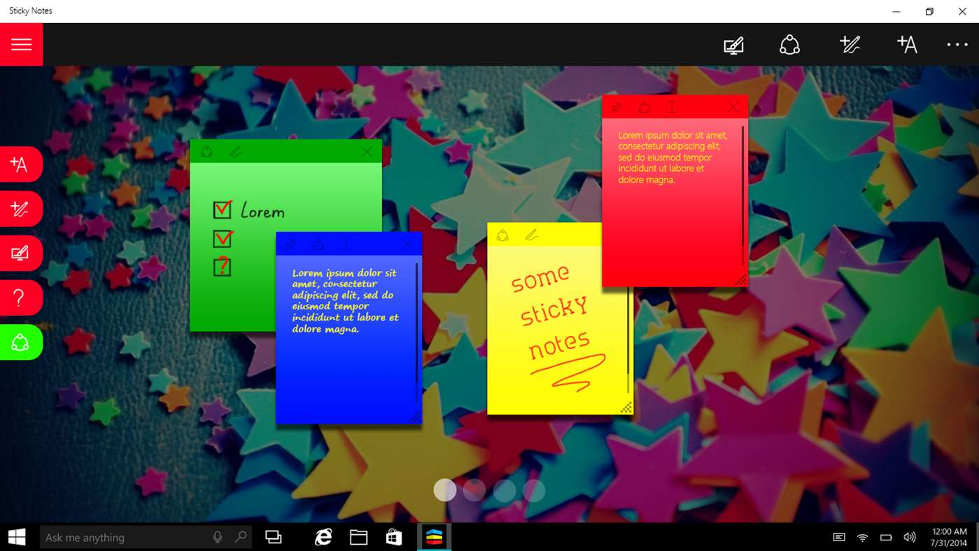 Colorful Notes Add To Desktop On Windows 10 With Sticky Notes Pro