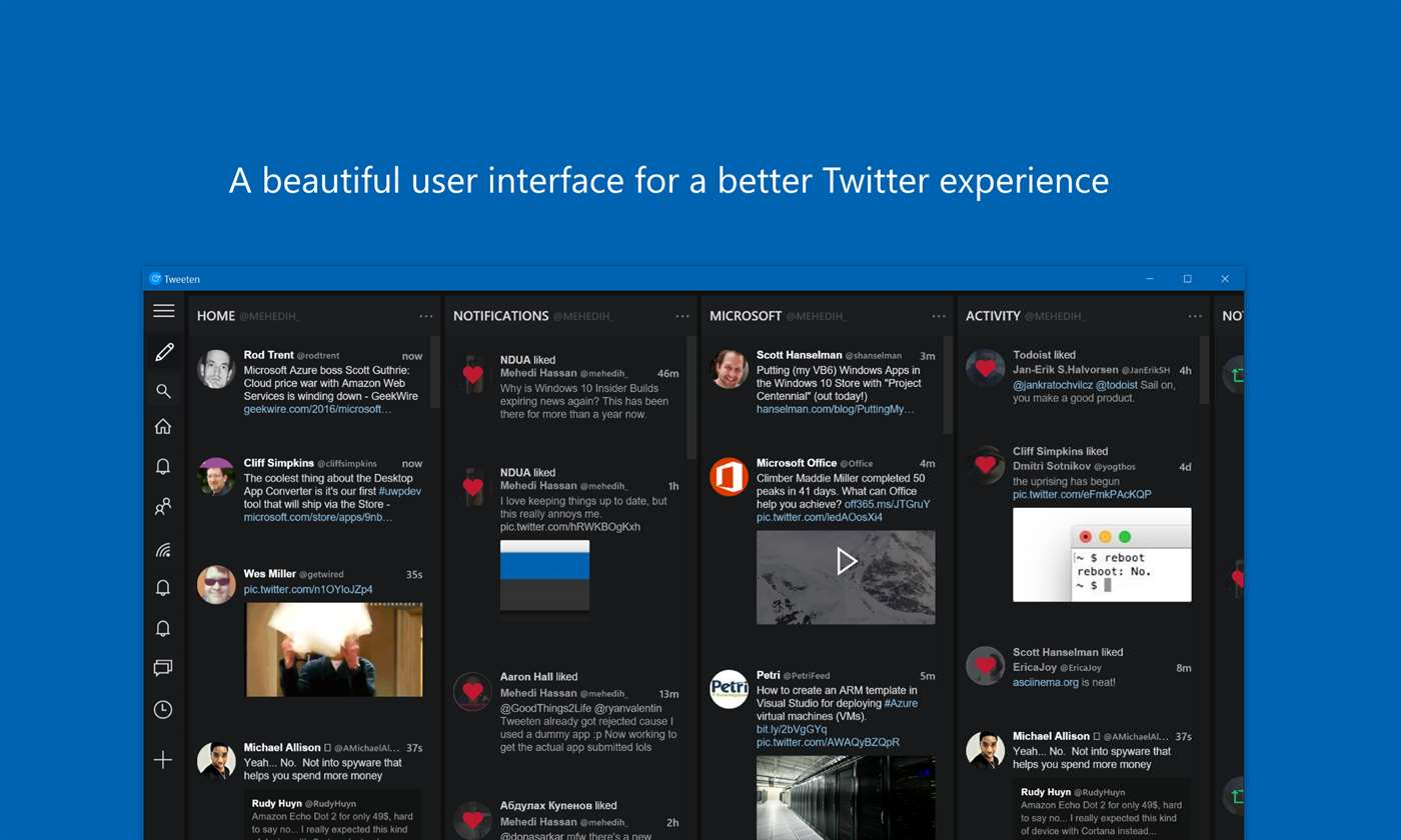 Experience Twitter With New Tweeten App On Windows 10