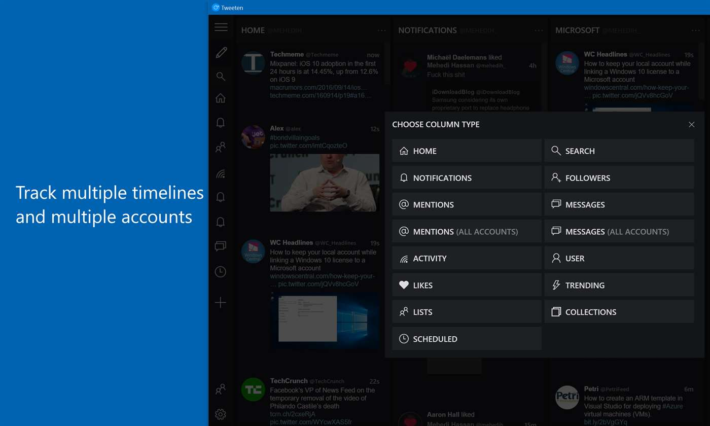 Track Multiple Timelines On Twitter Accounts With Tweeten 2