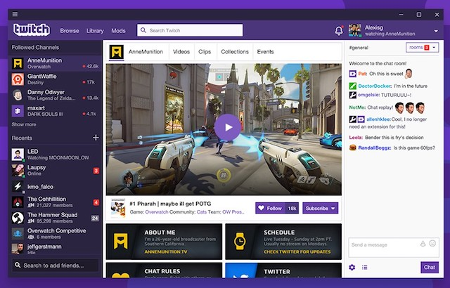 Stream Twitch From Your Windows 10 Machine With New App