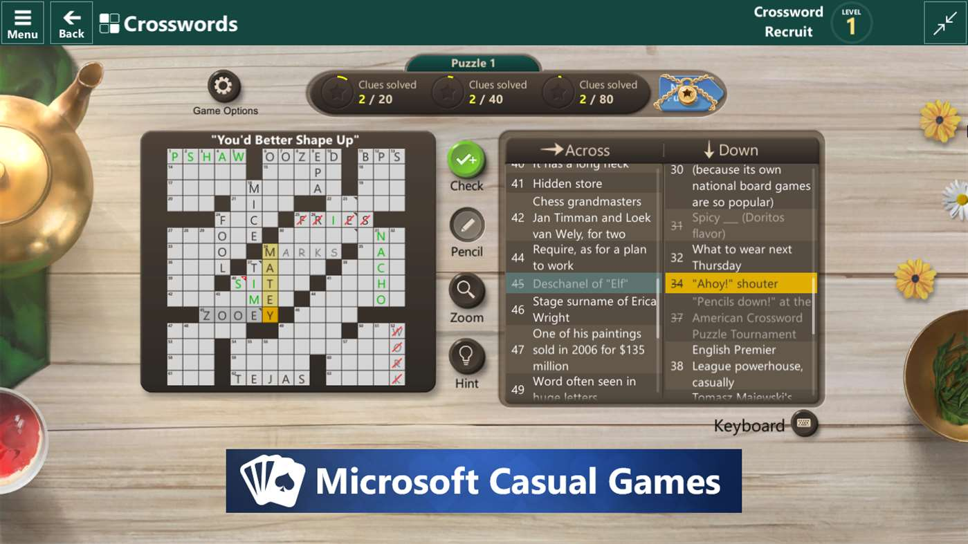 Crossword Players Rejoice With Microsoft Word Games App On Windows 10
