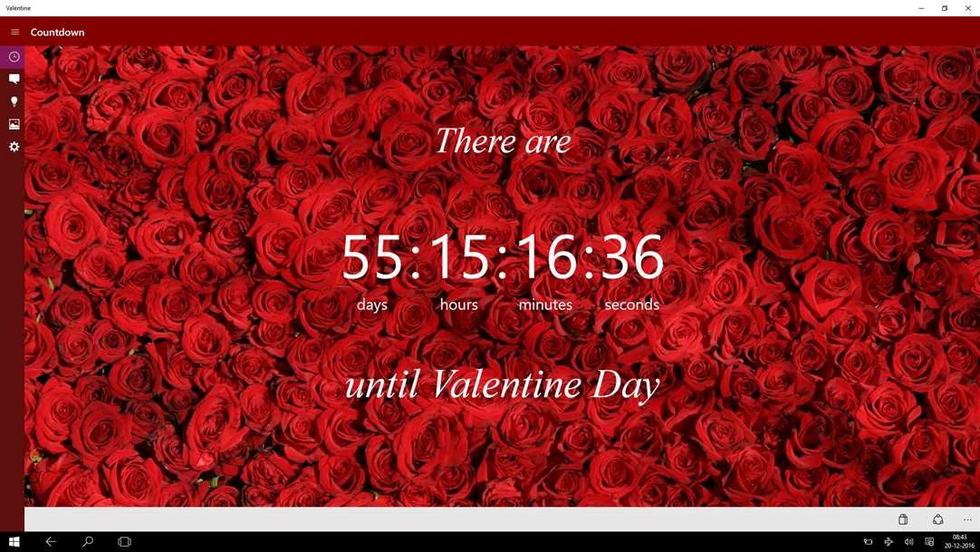 Valentine App Prodvides Countdown To Valentines Day On Windows 10