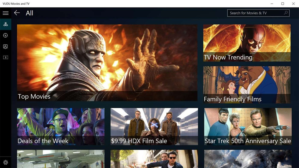 VUDU App Launches For Windows 10 Devices
