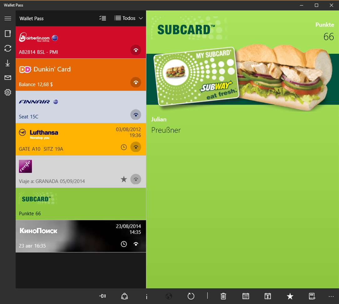 Passbooks Found Easier With Wallet Pass App On Windows 10