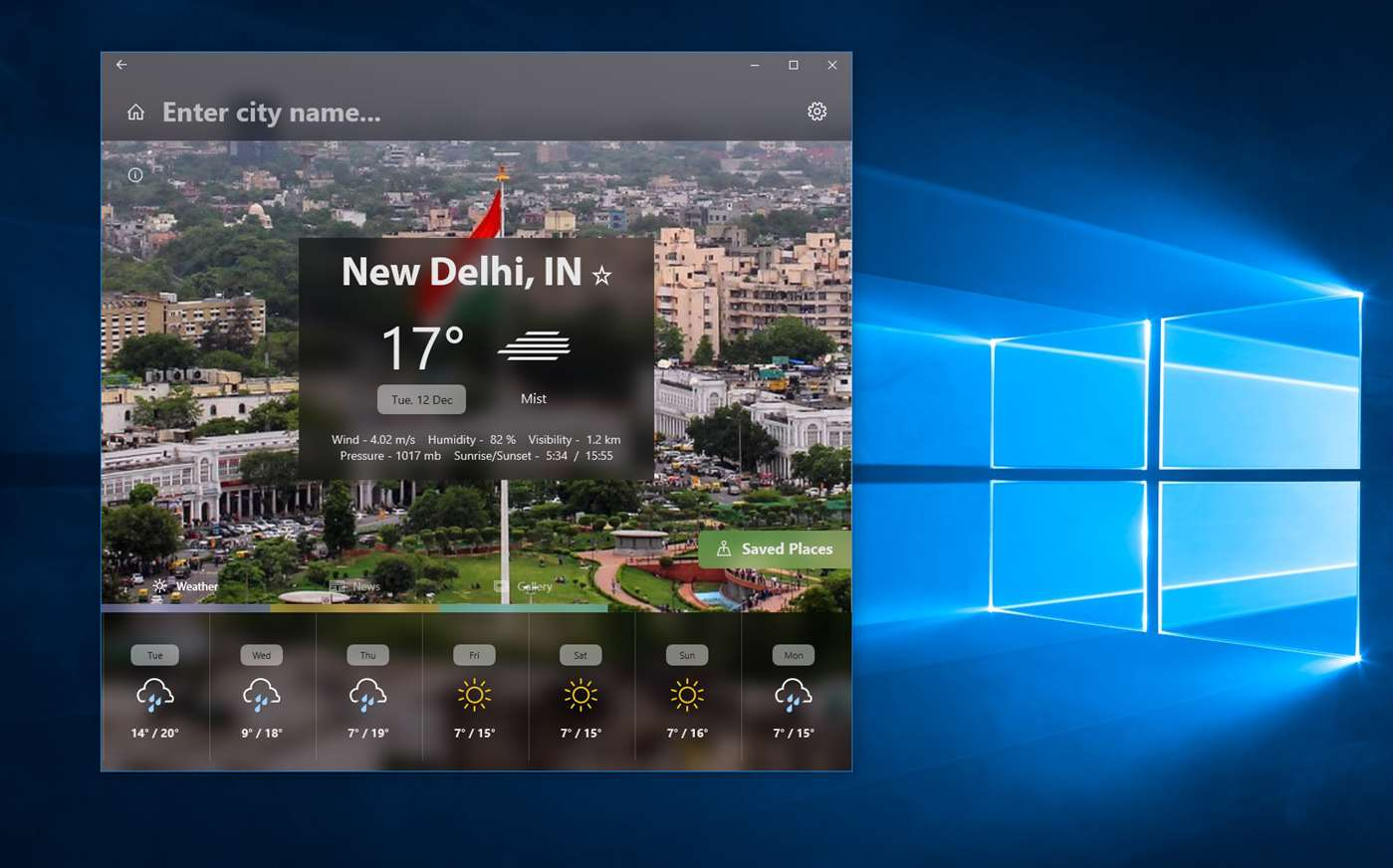 View Advanced Weather Features Using Recond