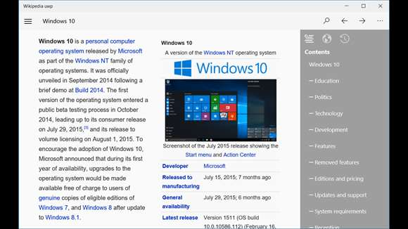 Experience A Clean & Easy Wikipedia Reading Experience On Windows 10 With Wikio