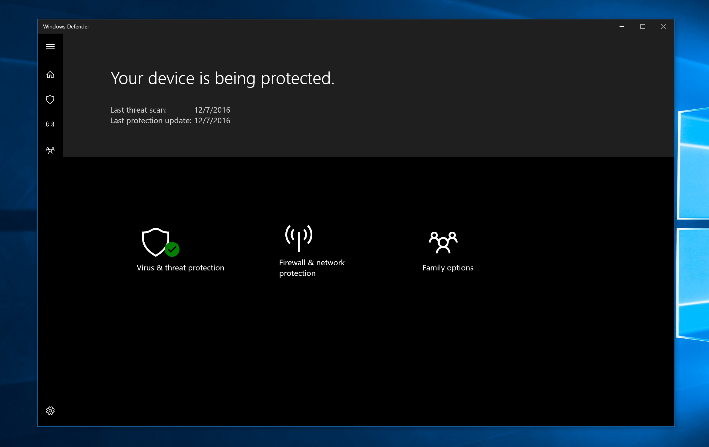 New Windows Defender Security Center Discussed In Microsoft Blog