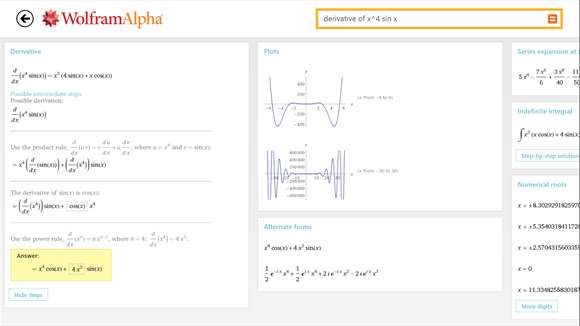 Compute & Solve Advanced Forulas & Problems With WolframAlpha App On Windows 10