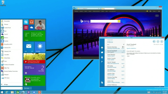 Microsoft's Vision Of The Windows 8.1 Start Menu Earlier This Year