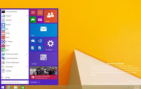 Microsoft's Alleged Screenshot Of The Latest Windows 8.1 Start Menu Appears