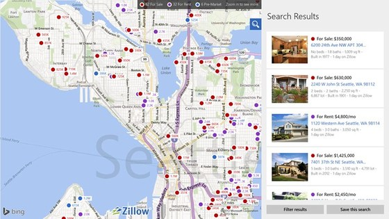 Zillow App Launches For Windows 8 Fans With Cheers