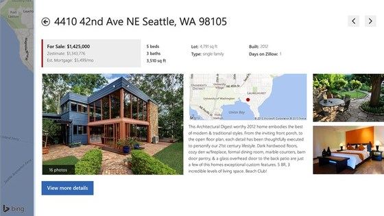 Zillow App Gives Windows 8 Users A Ton Of New Multitasking Abilities