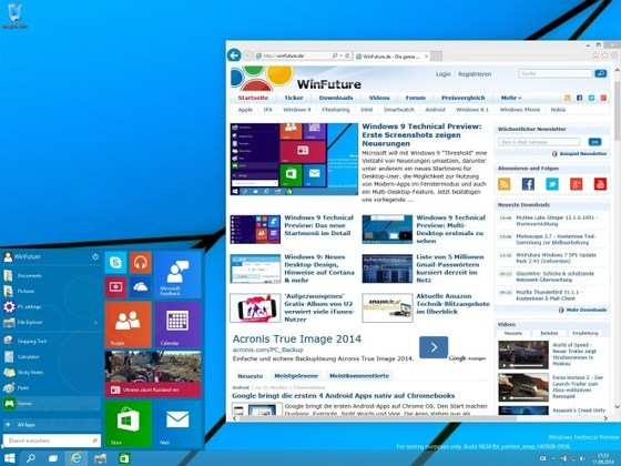 Microsoft's Windows 9 Looking Like A Finished Product