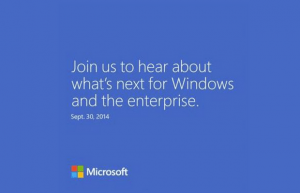 Microsoft Set To Show Off Windows 9 On Septemper 30th