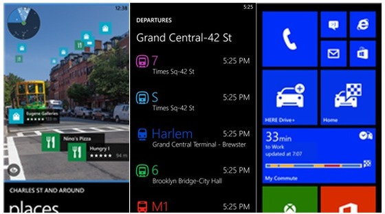Microsoft and Windows Phone Update HERE transit and maps app