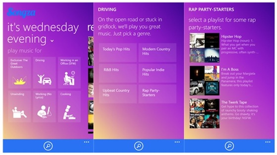 Reaper and Songza Make Their Debuts On Windows Phone 8