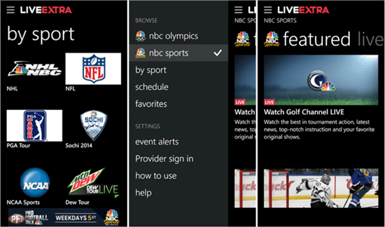 Microsoft Debuts NBC Sports Live Extra App For Windows Devices