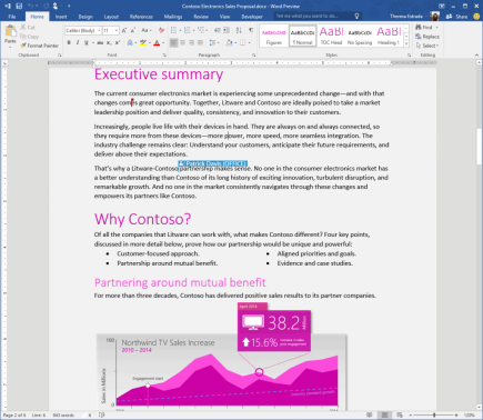 Microsoft Shows Off Word 2016 In Open Office 2016 Preview