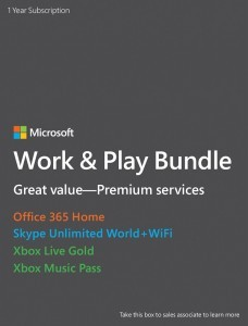 Microsoft Work & Play Bundle Launches
