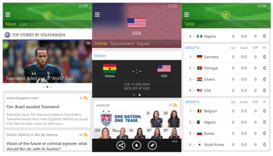 Microsoft Showcases World Cup Apps For Windows And Windows Phone