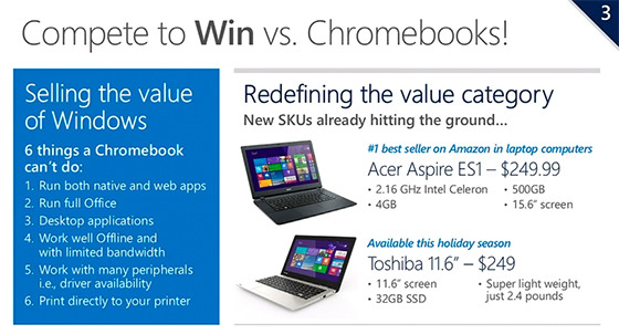 Microsoft Battles Google Chromebooks This Holiday Season