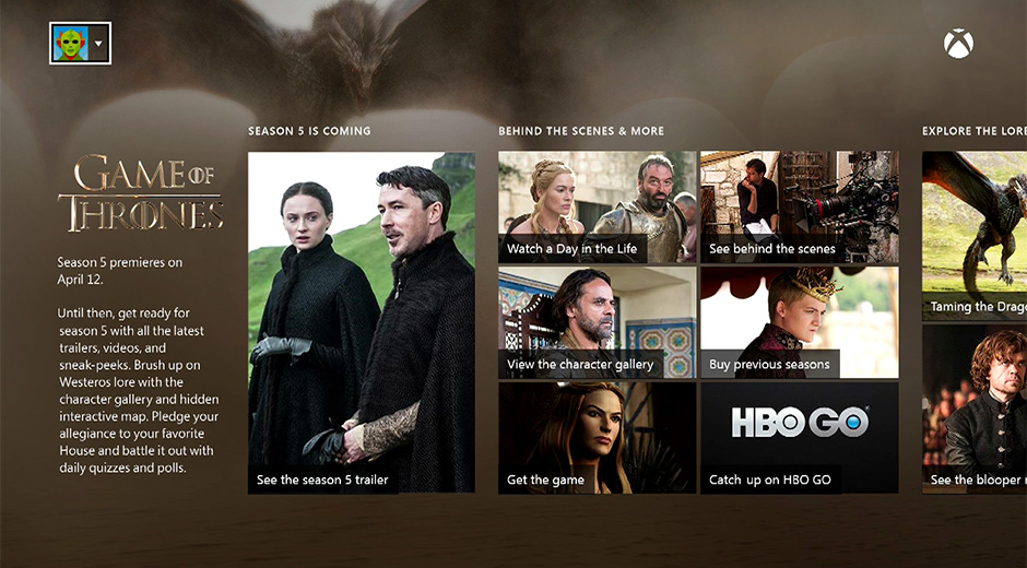 Microsoft Gives Game Of Thrones Viewers Season 5 Premiere For Free