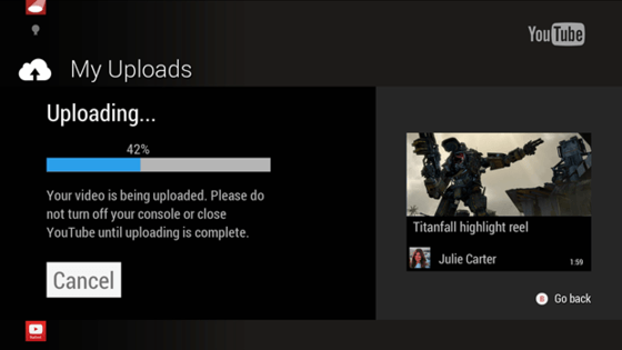 Microsoft Xbox One Users Now Can Upload Clips To YouTube