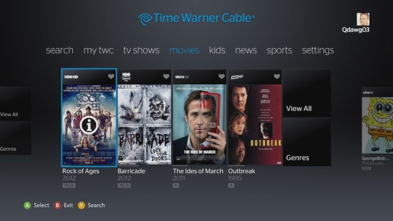 Time Warner TWC App Available on Xbox 360