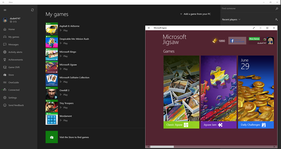 Microsoft Updates Xbox On Windows 10 App With New Features