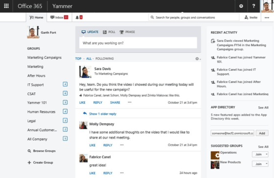 Yammer Gets Office 365 Support Plus Red Stripe Promos Featuring Bejeweled LIVE