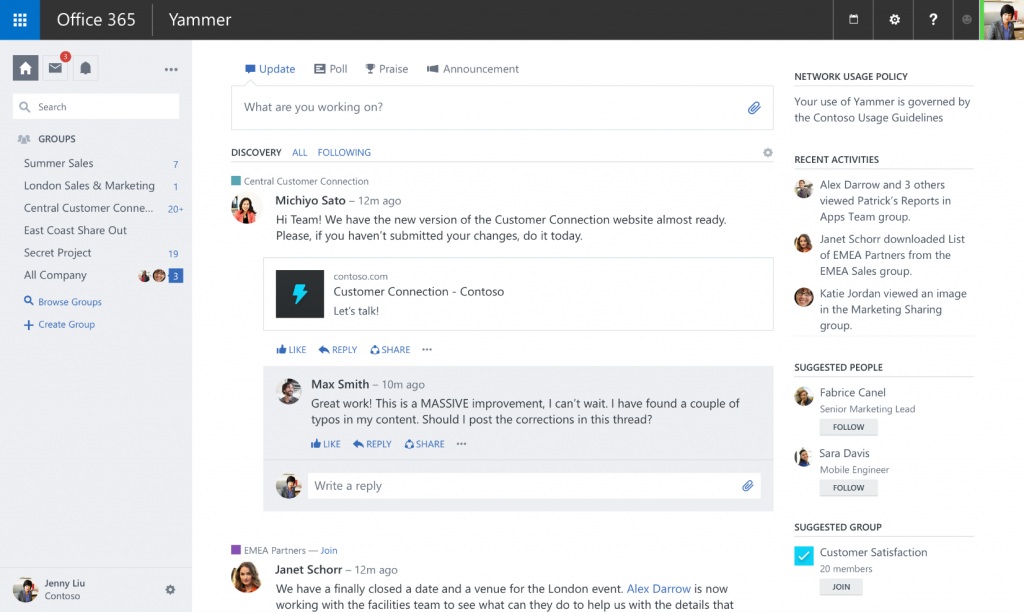 Microsoft Releases Optimization Tools For Yammer