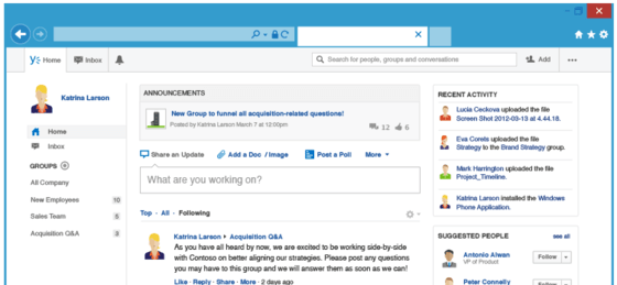 Microsoft's Yammer Gives Business Users New Sharing And Embeddable Tool