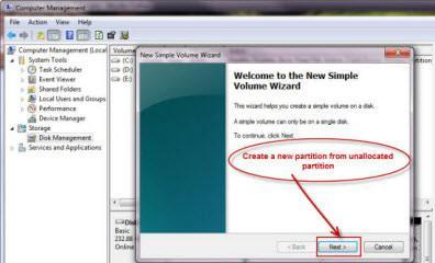 Create A New Partition or Volume in Windows 7