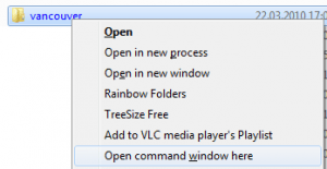 "Add ""open command prompt here"" to context menu in Windows 7"