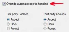 Interweb features: How to turn on cookies in Windows 8 (manual cookie handling)