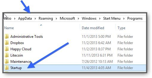 Where Is The Startup Folder on Windows 8.1 And How To Add New Items To It