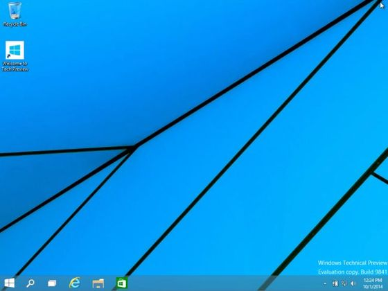Windows 10 Start Screen Shows Off Basics