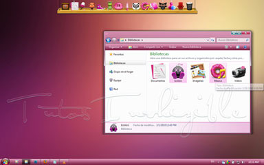 10 Cool Pink Windows 7 Themes (Aero + Mac OS X Inspired)