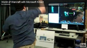 Playing WoW with Microsoft's Kinect